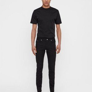 J.Lindeberg Damien SZ 30 x 32 Mens Jeans Blk Skinn